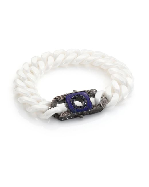 Stephen Webster - Blue Sapphire, Lapis & Sterling Silver Clasp for Men - Lyst