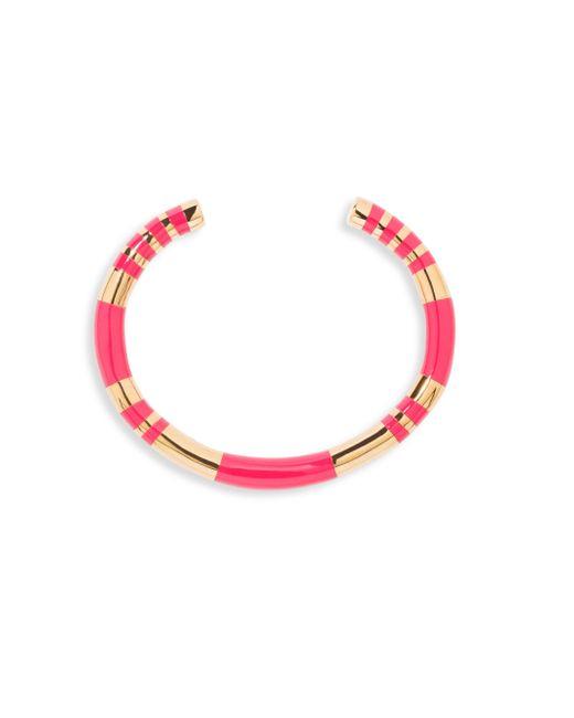 Aurelie Bidermann - Pink Positano Striped Cuff - Lyst