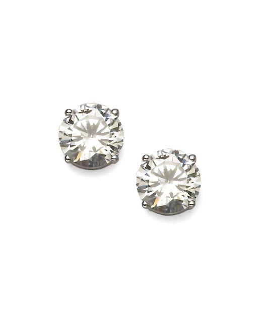 Adriana Orsini - Metallic Brilliant-cut Sterling Silver Stud Earrings - Lyst