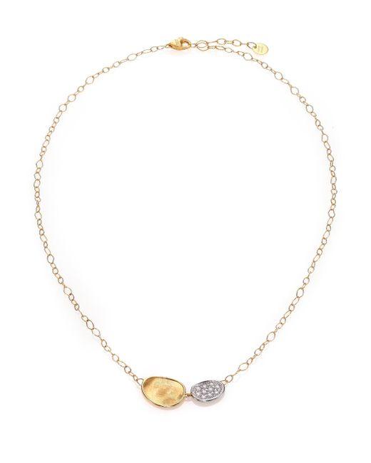Marco Bicego - Metallic Lunaria Diamond & 18k Yellow Gold Necklace - Lyst