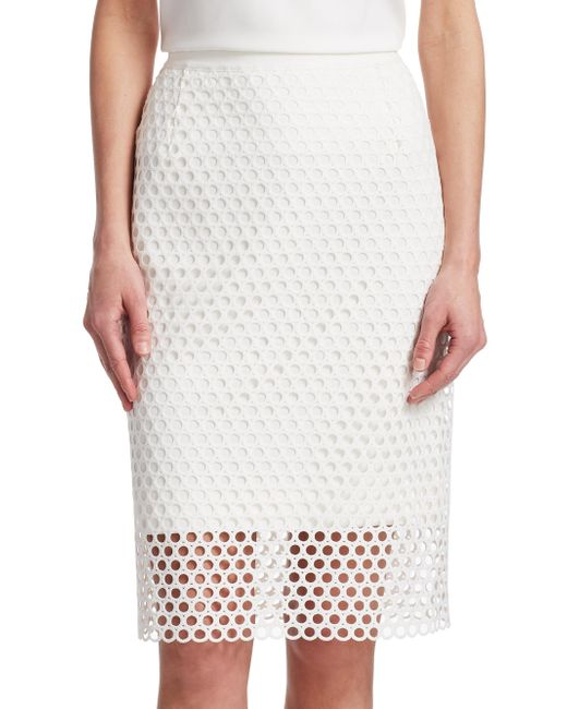 Akris Punto - Multicolor Lace Pencil Skirt - Lyst
