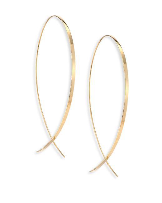 Lana Jewelry - Metallic Upside Down Large 14k Yellow Gold Flat Hoop Earrings/1.25 - Lyst