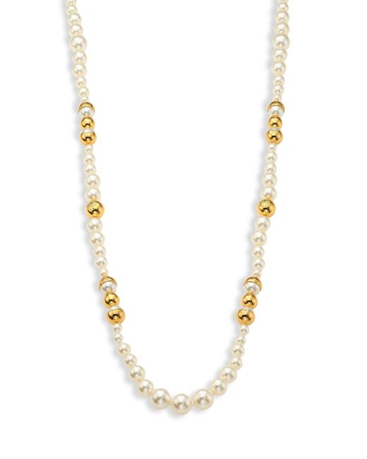 Tory Burch | White Capped Faux-pearl Strand Necklace/39 | Lyst