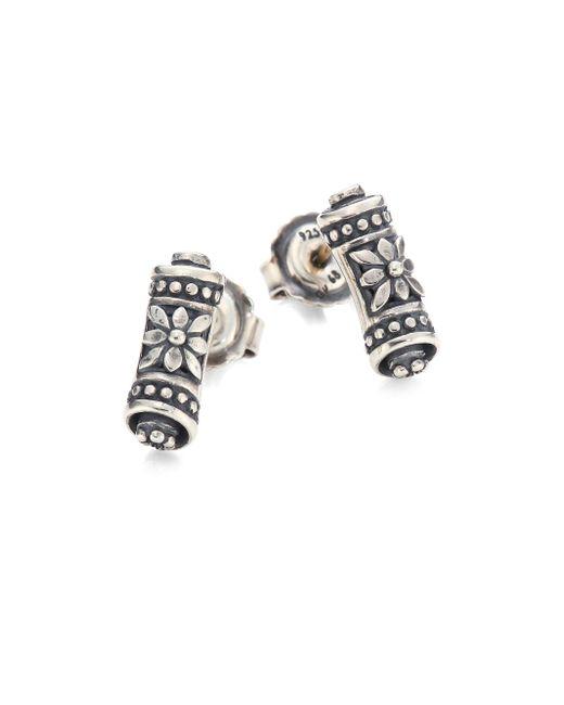 Konstantino - Metallic Penelope Sterling Silver Scroll Earrings - Lyst