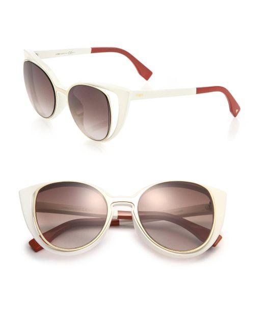Fendi | Brown Cat's-eye 51mm Sunglasses | Lyst