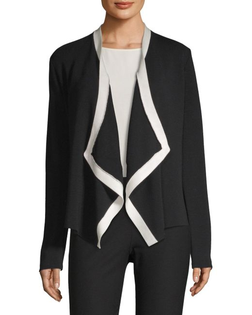 Eileen Fisher - Black Angled Front Jacket - Lyst