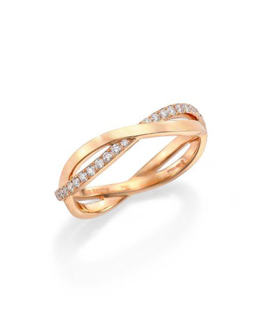 De Beers - Pink Infinity Diamond & 18k Rose Gold Half Band Ring - Lyst