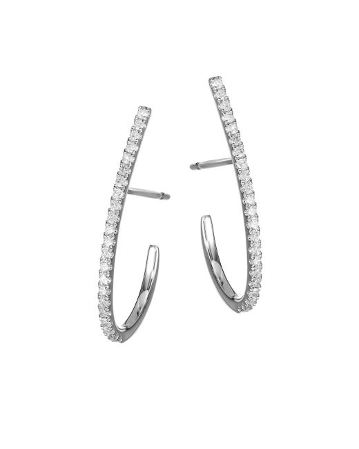 Meira T Metallic 14k White Gold Diamond Post Earrings