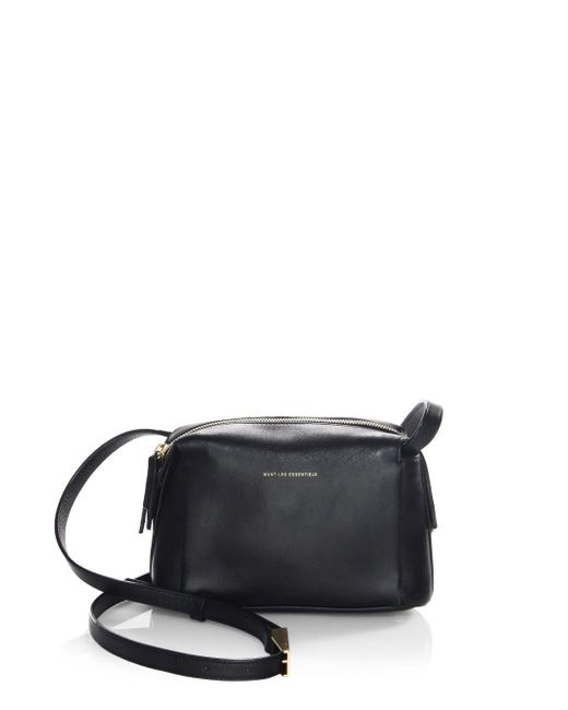 Want Les Essentiels De La Vie | Black Maxi City Leather Crossbody Bag | Lyst