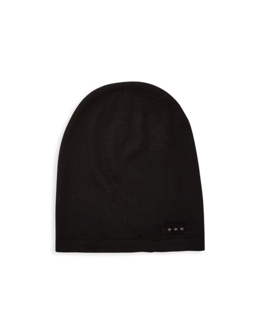 John Varvatos - Black Knitted Wool Beanie for Men - Lyst
