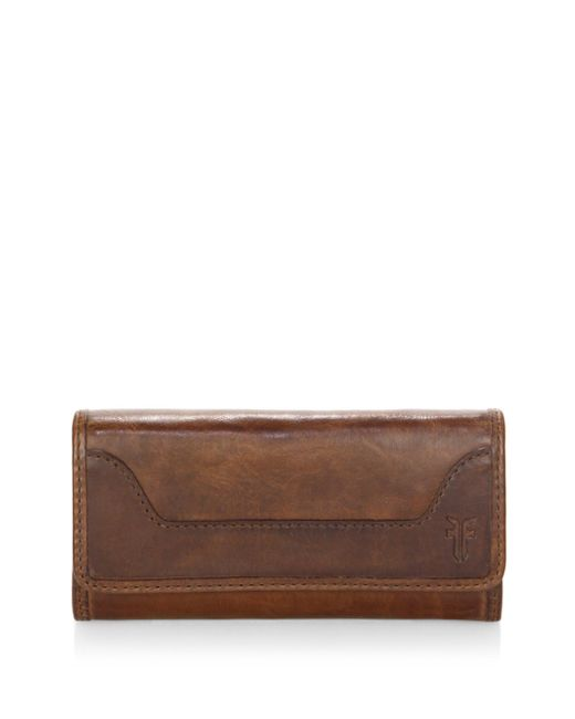 Frye - Brown Melissa Leather Wallet - Lyst