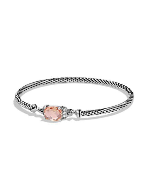 David Yurman - Metallic Petite Wheaton Bracelet With Diamonds - Lyst