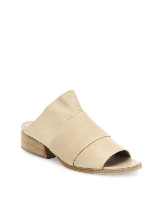 LD Tuttle - Natural The Link Leather Slides - Lyst