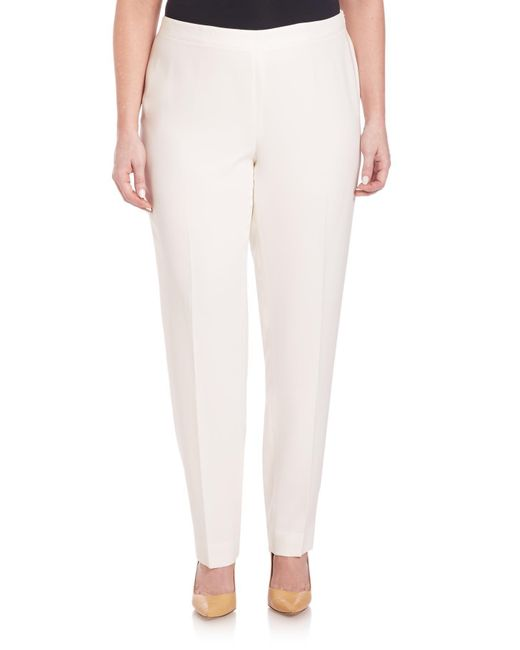 Lafayette 148 New York - White Finesse Crepe Bleecker Pants - Lyst