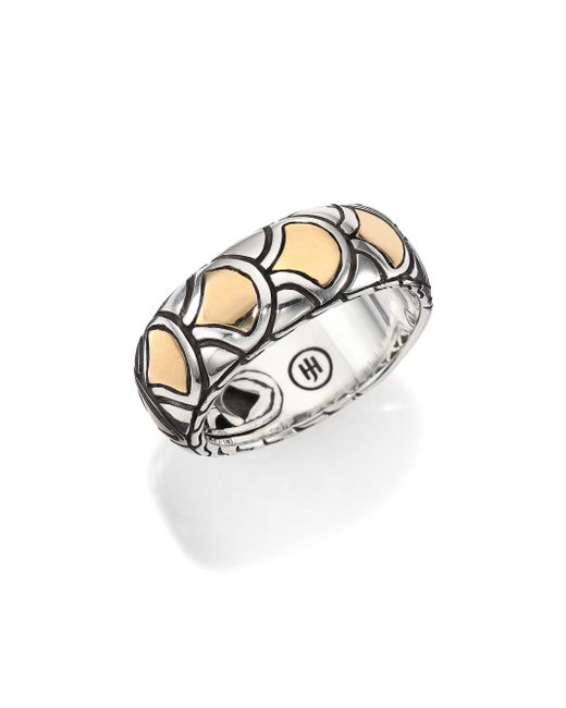 John Hardy | Metallic Naga 18k Yellow Gold & Sterling Silver Band Ring | Lyst