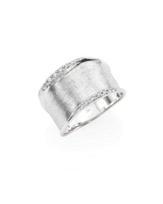 Marco Bicego - Metallic Lunaria Small Diamond & 18k White Gold Ring - Lyst