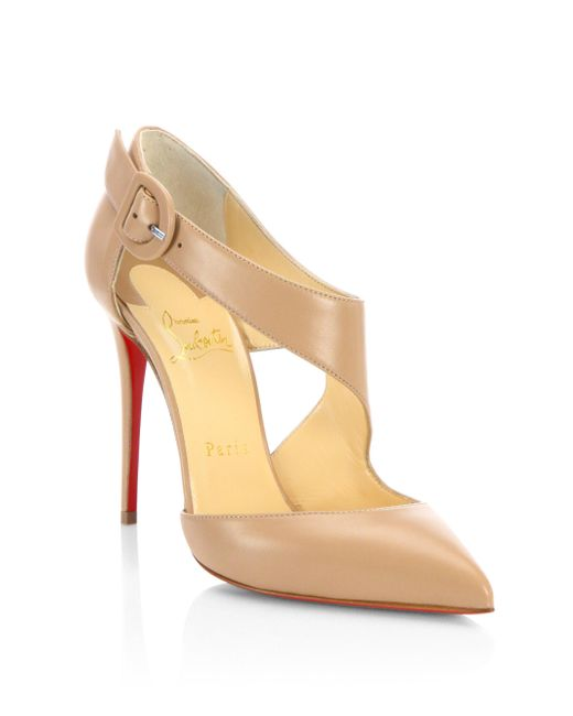 Christian Louboutin | Natural Sharpeta 100 Leather Pumps | Lyst