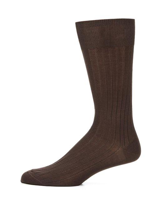 Saks Fifth Avenue - Brown Cotton-blend Dress Socks for Men - Lyst