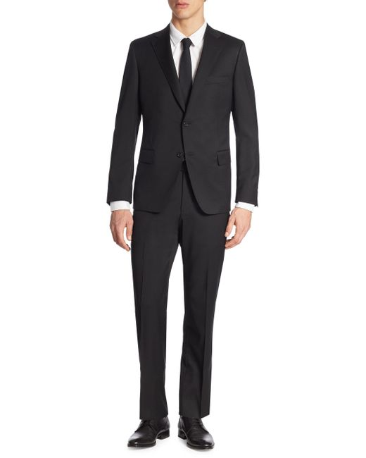 Saks Fifth Avenue - Black Samuelsohn Classic-fit Wool Suit for Men - Lyst