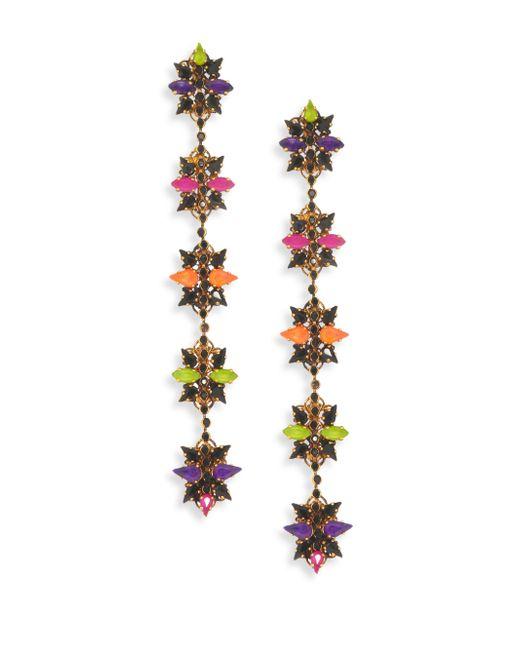 Erickson Beamon - Multicolor Technicolor Crystal Linear Earrings - Lyst