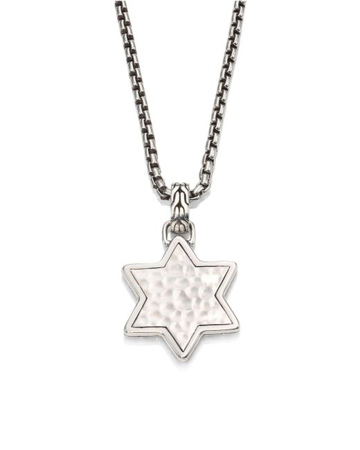 John Hardy - Metallic Classic Chain Collection Star Pendant Necklace for Men - Lyst