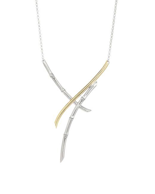 John Hardy - Metallic 18k Gold & Silver Bamboo Necklace - Lyst