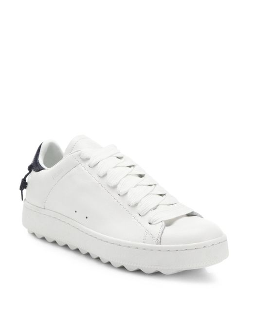 COACH - White Leather Sneakers - Lyst