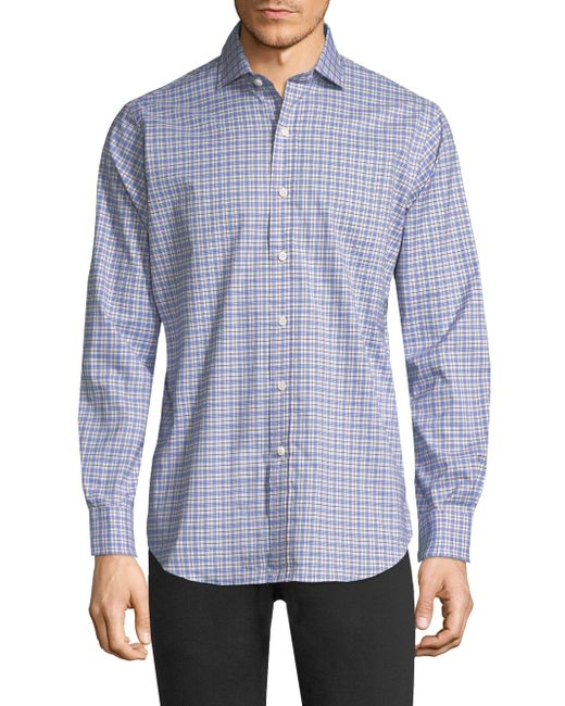 Polo Ralph Lauren - Blue Cotton Poplin Button-down Shirt for Men - Lyst