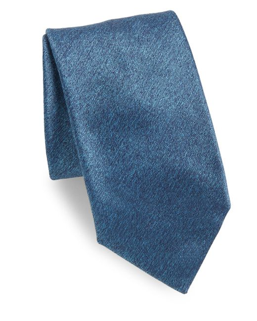 Charvet | Blue Plain Long Silk Tie for Men | Lyst