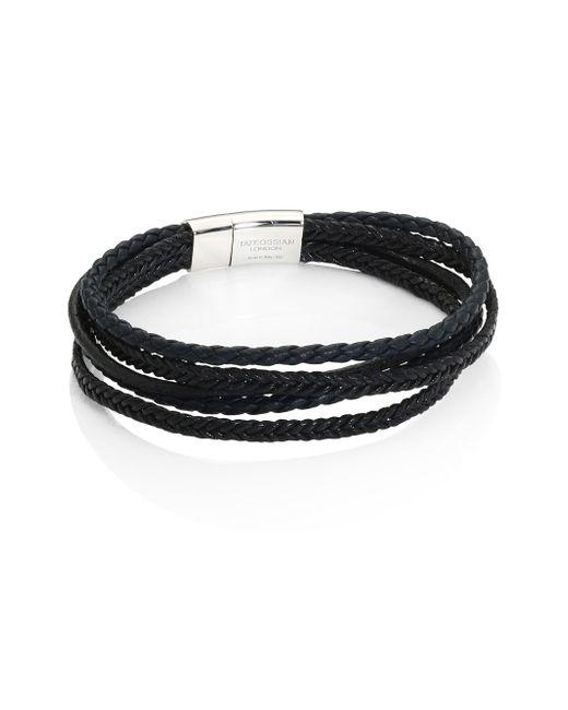 Tateossian | Black Cobra Multi-strand Leather Bracelet for Men | Lyst