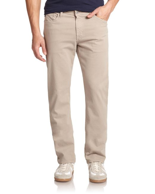 AG Jeans - Natural Graduate Slim Straight Pants for Men - Lyst