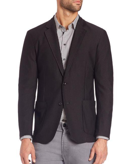 Armani | Black Mesh Jacket for Men | Lyst