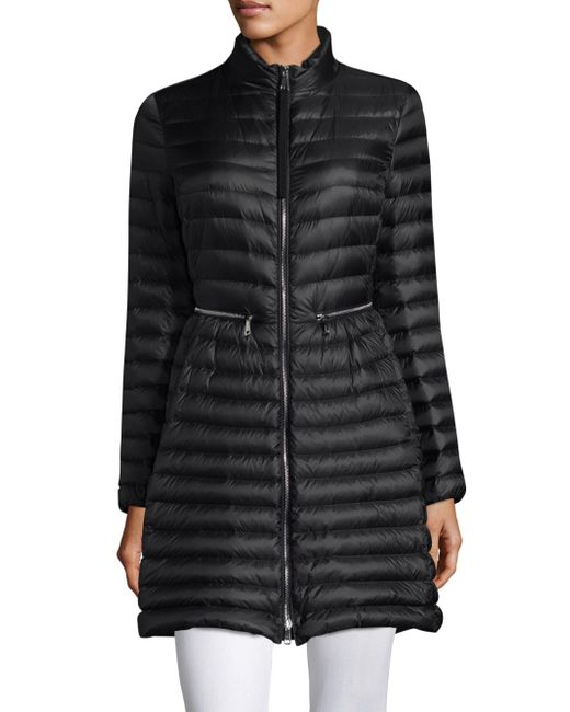 Moncler - Black Agatelon Long Puffer Jacket - Lyst