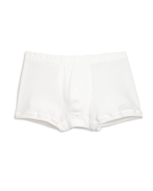 Hanro - White Sea Island Cotton Cotton Boxer Briefs for Men - Lyst