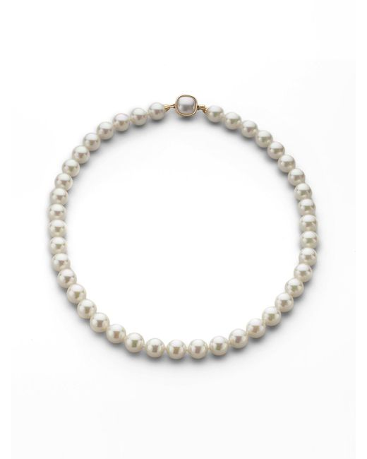 Majorica - 10mm White Pearl Necklace/18 - Lyst