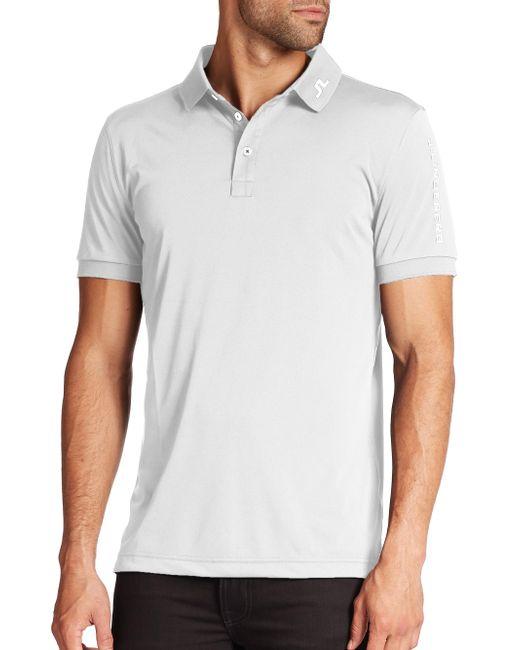 J.Lindeberg | White Tour Tech Logo Polo for Men | Lyst