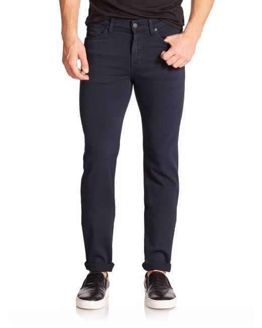 7 For All Mankind | Blue Luxe Performance: Slimmy Slim Straight-leg Jeans for Men | Lyst