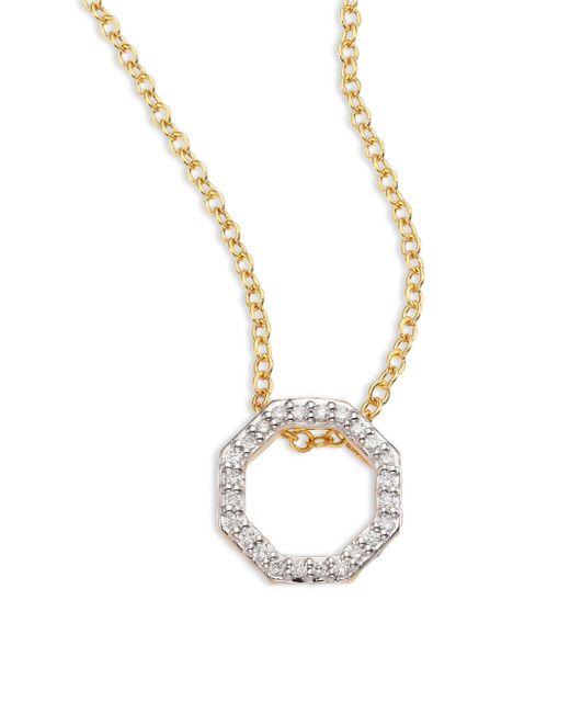 Phillips House - Metallic Open Petite Hero Diamond & 14k Yellow Gold Pendant Necklace - Lyst
