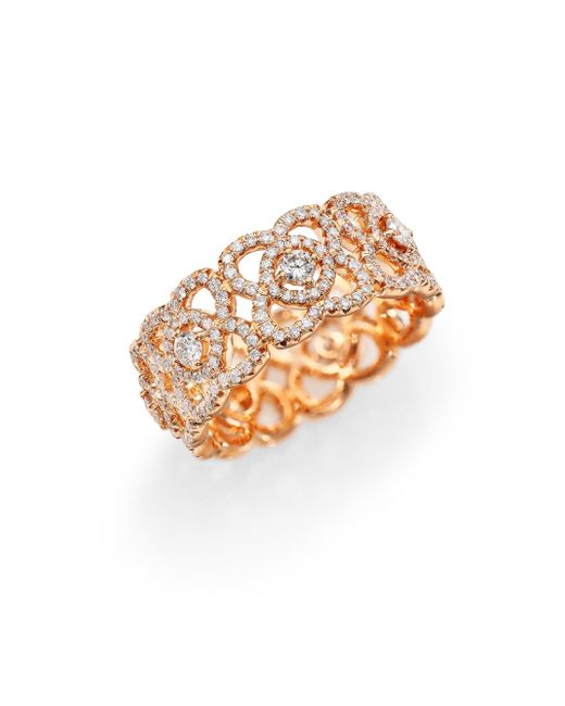 De Beers | Pink Enchanted Lotus Diamond & 18k Rose Gold Band Ring | Lyst