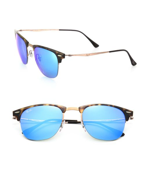 Ray-Ban | Blue 51mm Square Sunglasses for Men | Lyst