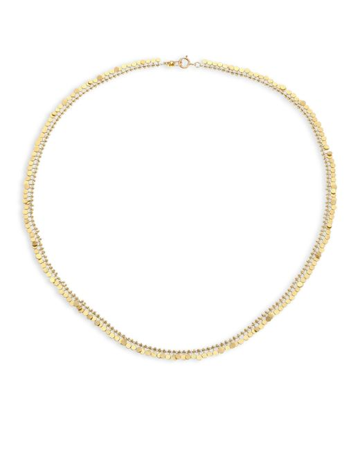 Sia Taylor - Metallic Full Dots 18k Yellow Gold Necklace - Lyst