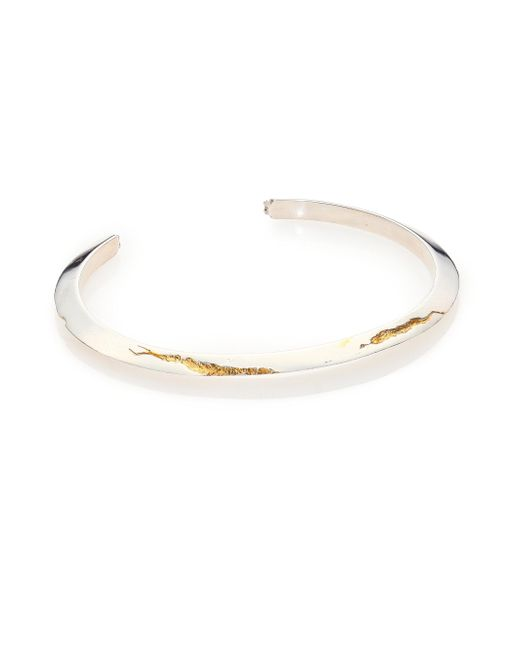 Cast Of Vices   Metallic Yellow Diamond, 14k Gold & Sterling Silver Cuff Bracelet for Men   Lyst