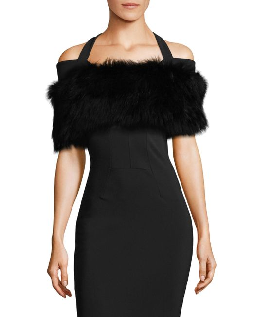 Alberto Makali - Black Fox Fur Knit Shrug - Lyst