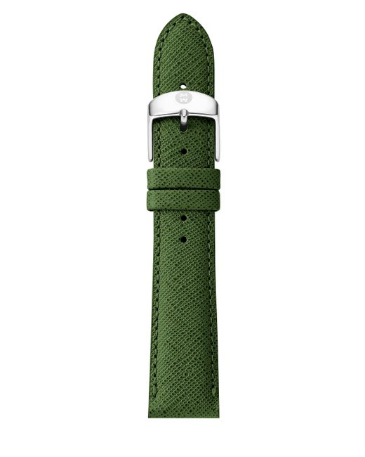 Michele Watches - Green Saffiano Leather Watch Strap/18mm - Lyst