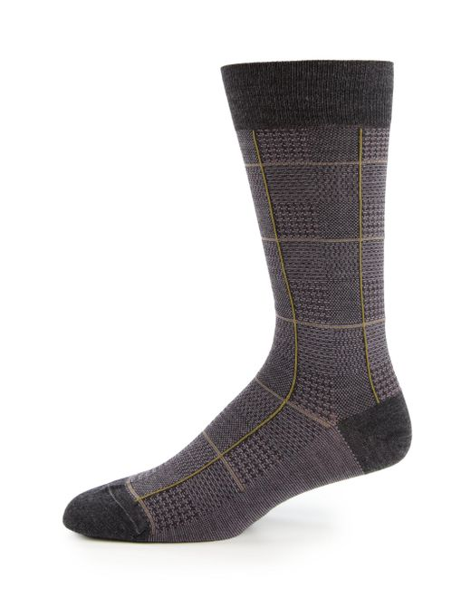 Pantherella - Gray Strachey Plaid Socks for Men - Lyst