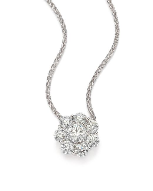 Hearts On Fire - Beloved Diamond & 18k White Gold Floral Pendant Necklace - Lyst