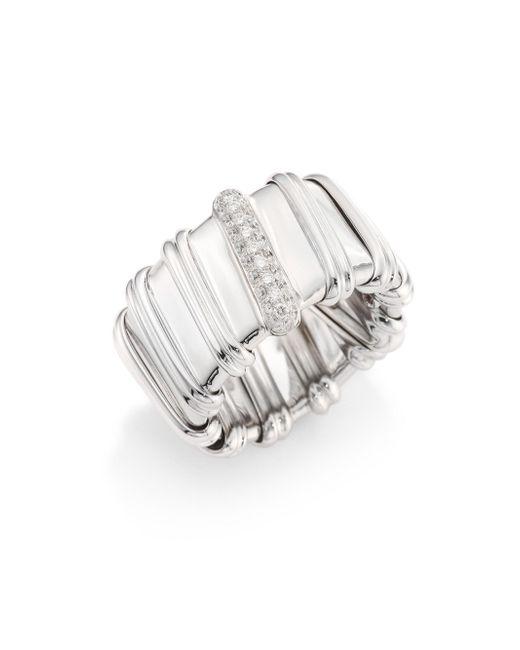 Roberto Coin - Metallic Nabucco Diamond & 18k White Gold Ring - Lyst
