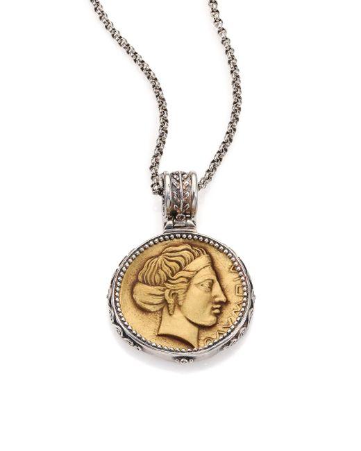 Konstantino | Metallic Kerma Olympia Bronze & Sterling Silver Coin Pendant | Lyst