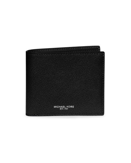 Michael Kors - Black Leather Billfold Wallet for Men - Lyst
