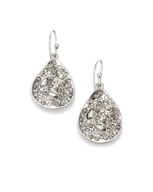 Alexis Bittar | Metallic Miss Havisham Crystal Drop Earrings/silvertone | Lyst